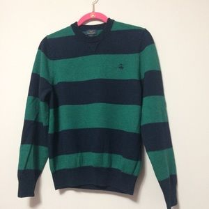 Brooks Brothers Wool Crew Neck Sweater Striped